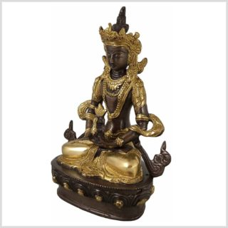 Adibuddha 19cm Messing verkupfert Seitenansicht Links