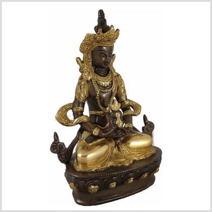 Adibuddha 19cm Messing verkupfert Seitenansicht Rechts