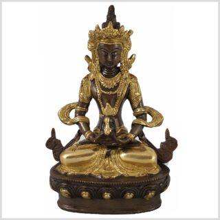 Adibuddha 19cm Messing verkupfert Vorderansicht
