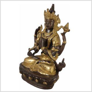 Avalokiteshvara 22cm 1,9 KG Messing verkupfert Seite Links