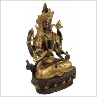 Avalokiteshvara 22cm 1,9 KG Messing verkupfert Seite Rechts