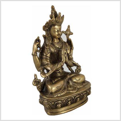 Avalokiteshvara 22cm 1,9 KG Messing Seite Rechts