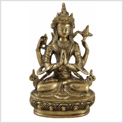 Avalokiteshvara 22cm 1,9 KG Messing Vorne
