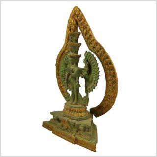 Chenrezig Avalokiteshvara Kuay Yin mintgrün Antik Seitenansicht Links