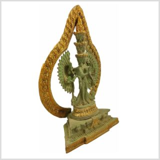 Chenrezig Avalokiteshvara Kuay Yin mintgrün Antik Seitenansicht Rechts