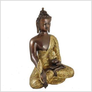 Medizinbuddha Messing Verkupfert Seitenansicht Rechts