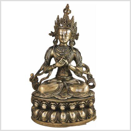Vajradhara Adibuddha Messing 36cm Frontansicht