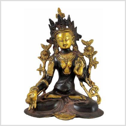 Weiße Tara 3KG Nepal Braungold Frontansicht