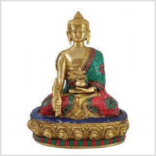 Medizinbuddha mit Steinen benetzt aus Nepal