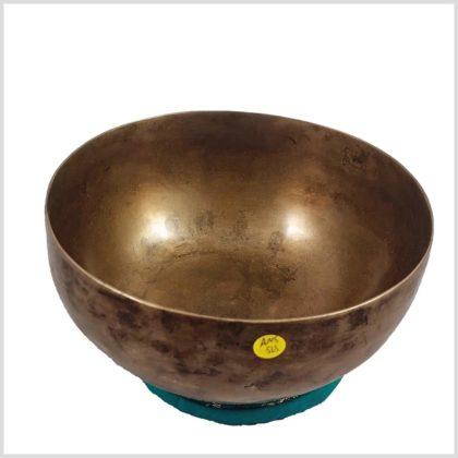 Alte tibetische Klangschale 563 Gramm Draufsicht