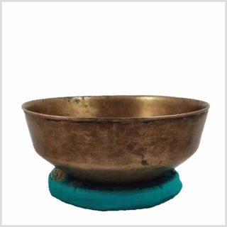 Alte antike tibetische Klangschale - Besondere Bauform Seite