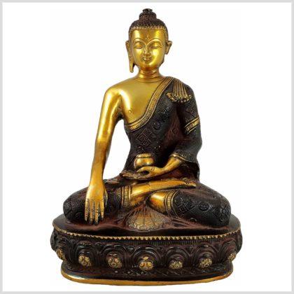 Erdender Buddha Braungold Bhumiparsha Mudra Vorderansicht
