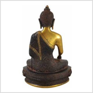 Erdender Buddha aus Nepal Braungold 3KG Rücken