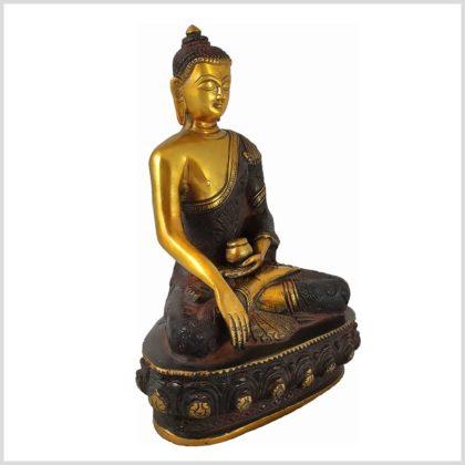Erdender Buddha aus Nepal Braungold 3KG Seite Rechts