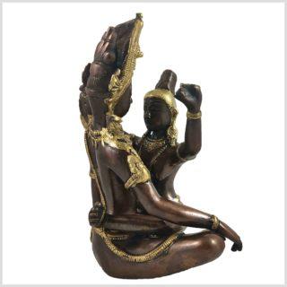 Buddha Shakti Yab-Yum Messing Kupfer Hinten