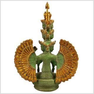 Chenrezig Avalokiteshvara Messing mintgrün verziert Hinten
