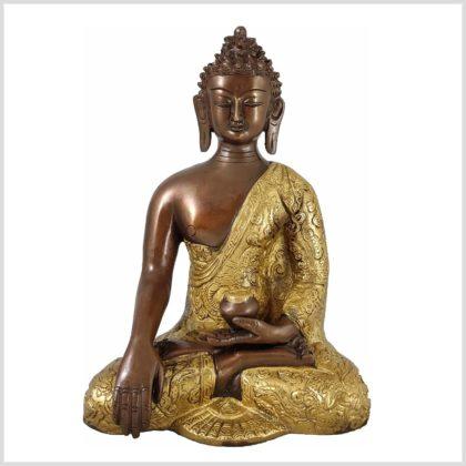 Erdender Buddha - Bhumiparsha Mudra 25cm 3,1 KG Vorderansicht