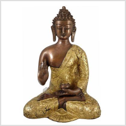 Vitarka Mudra Buddha Lehrender Buddha Kupfer Messing