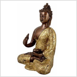 Lehrender Buddha Kupfer Messing Seite Links