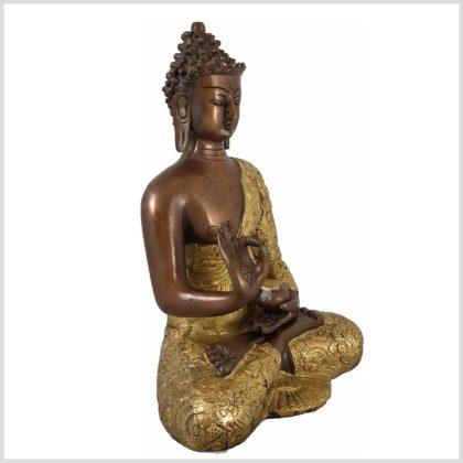 Lehrender Buddha Kupfer Messing Seite Rechts