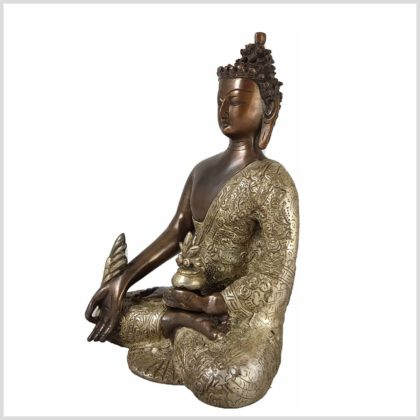 Medizinbuddha Seite Links Kupferversilbert