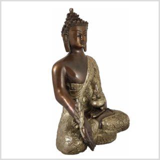 Medizinbuddha Kupfer versilbert Seite Rechts