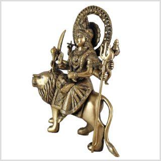 Durga auf Löwe 6,3 KG Messing Seite Rechts