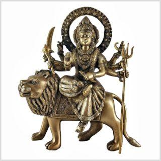 Durga 6,3 KG auf Löwe Messing Vorderansicht