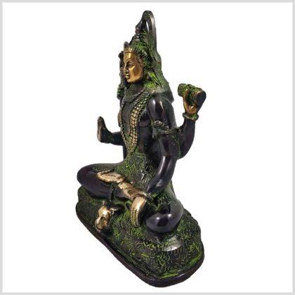 Shiva sitzend Abhaya Mudra Seitenansicht Rechs