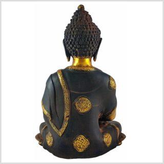 Erleuchteter Buddha Nepalbraun 6KG Rücken