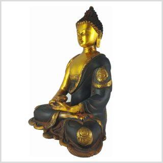 Erleuchteter Buddha Nepalbraun 6KG Seitenansicht Links