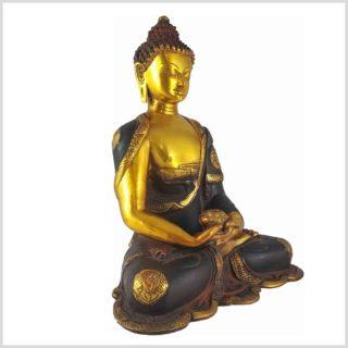 Erleuchteter Buddha Nepalbraun 6KG Seitenansicht Rechts