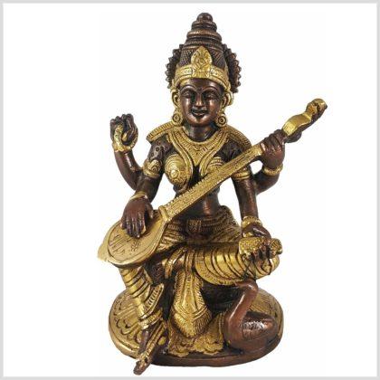 Sarasvati Messing verkupfert Vorderansicht