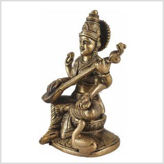 Sarasvati Messing 22cm Seite Links