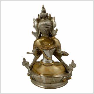 Vajradhara Diamantenbuddha Messing Silber Hinten