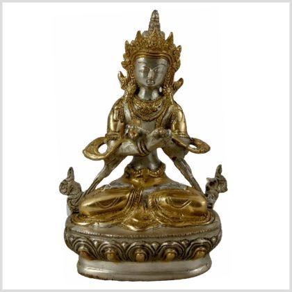 Vajradhara Silber Messing Vorderansicht Diamantenbuddha