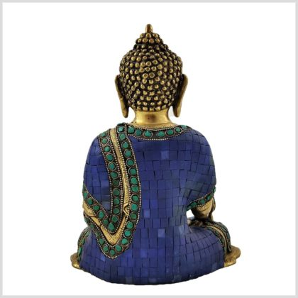 Medizinbuddha Asthamangala Blau Hinten
