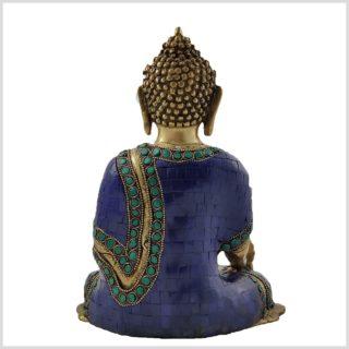 Medizinbuddha Asthamangala Blau Fein Hinten