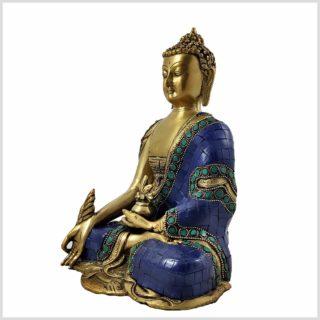 Medizinbuddha Asthamangala Blau Fein Links