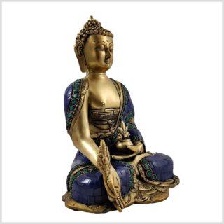 Medizinbuddha Asthamangala Blau Fein Seite Rechts