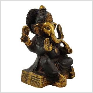 Ganesha sitzend Braungold Seite Rechts