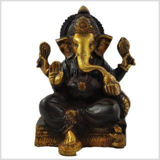 Ganesha sitzend Braungold Vorderansicht