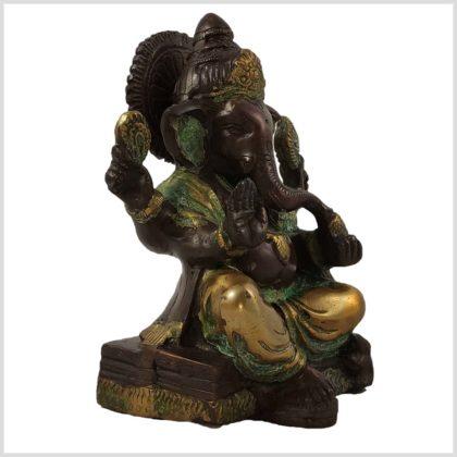 Ganesha sitzend Kupferantik Rechts
