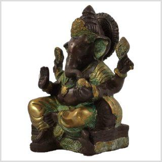 Ganesha sitzend Kupferantik Links