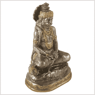 Hanuman Messing versilbert Seitenansicht Rechts