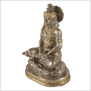 Hanuman Messing versilbert Seitenansicht