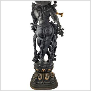 Krishna Stehend Schwarzgold Hinten unten
