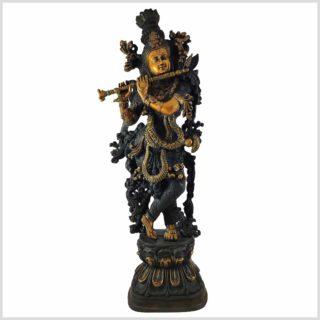 Krishna Stehend Schwarzgold Gesamtansicht
