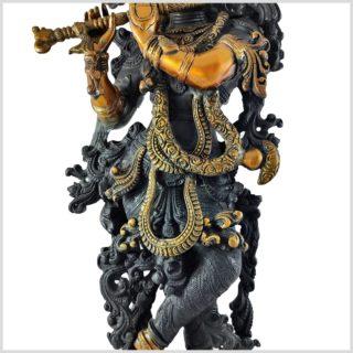 Krishna Stehend Schwarzgold Körper