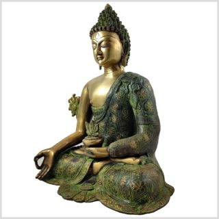 Medizinbuddha 9,6 grünantik Seitenansicht Links